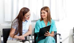 Model of healthy and damaged teeth