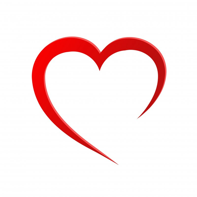 Simple logo in the shape of a heart representing heart health